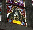 Gothic stained-glass window in the presbytery of the Cathedral, 14th century
