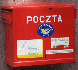 Polish typical post box