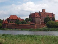 Castle in Malbork (Merienburg). Between 1309 and 1457 Malbork was a capital of the state governed by the Teutonic Knights and the home of the Grand Master.