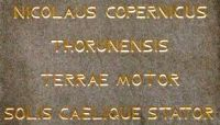 Inscription on the monument to Copernicus