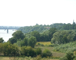The River Vistula escarpment in Torun - area of former vineyards