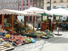 Everyday fruits and vegetables stalls on Rynek Nowomiejski (New City Market Square)