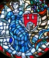 Torun coat of arms stained-glass by Koziol Staned-Glass Art Studio