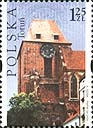 Polish stamp with the Torun theme - Catherdal, 2004. The stamp is one of five in a series of Polish Heritage